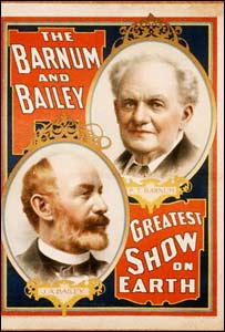 Afiche del circo de Barnum and Bailey