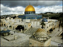 The Dome of the Rock Mosque compound in Jerusalem's Old City