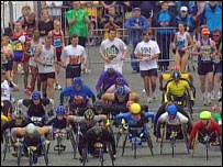 Wheelchair race start