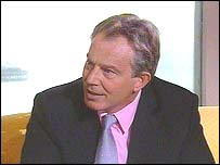 Tony Blair on BBC Breakfast with Frost