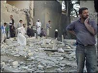 Bombing scene in Falluja