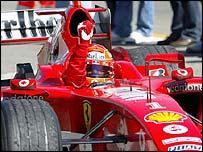 Michael Schumacher in the Ferrari