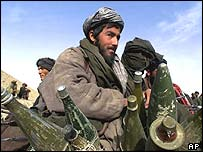 Taleban fighters at Kunduz in 2001