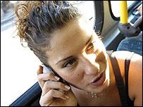 Girl on mobile
