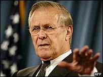 Donald Rumsfeld, secretario de Defensa de EE.UU.