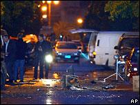 На месте взрыва в Афинах