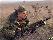 Russian soldier in Chechnya (archive pic)