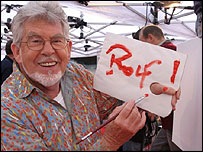 Rolf Harris in Trafalger Square