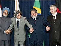 Heads of state of India, Japan, Brazil and Germany