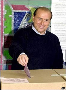 Silvio Berlusconi in 2001 election
