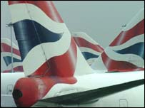 BA planes at Heathrow, PA