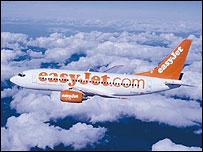 Easyjet plane - picture from Easyjet