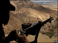 View from helicopter, Afghanistan