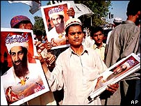 Demonstration in support of Osama Bin Laden, Pakistan