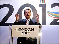 Prime Minister Tony Blair is backing London's bid