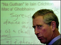 Prince Charles at Skye's Gaelic college