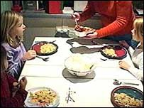 Image of children at a dinner table