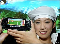Model shows off the PSP