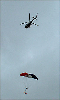 Helicopter and capsule, BBC