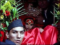 Preeti Shakya who has been revered as the Kumari