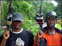 Armed militia in the Delta