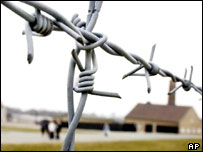 Barbed wire at concentration camp