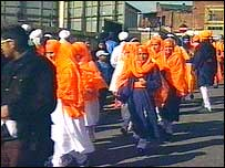 People at the Vaisakhi Mela in Walsall in 2000