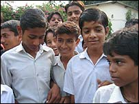 Schoolboys in Delhi