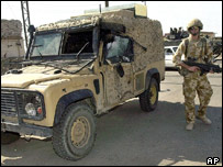 The armoured Land Rover was hit by a rocket propelled grenade