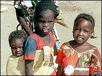 Refugees from western Sudanese region of Darfur, 2004