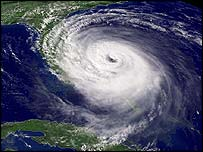 Satellite image of Hurricane Jeanne