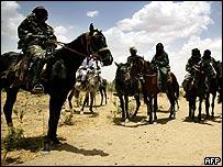 Pro-Sudanese government militiaman