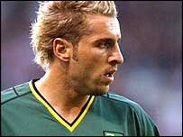Norwich forward Daren Huckerby