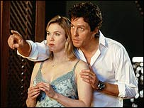 Renee Zellweger and Hugh Grant in Bridget Jones: The Edge of Reason
