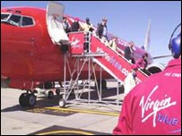 Virgin Blue's inaugural flight