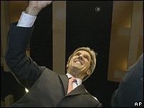 El candidato demócrata John Kerry