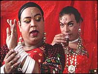 Ramesh Menon and Edwin Fernandes in The Pink Mirror