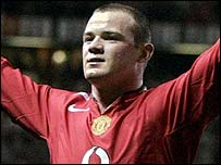 Manchester United striker Wayne Rooney celebrates his hat-trick against Fenerbahce