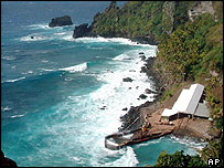 Landing jetty at Pitcairn (archive picture)