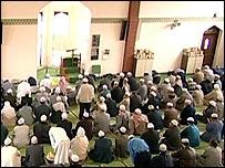 British Muslims at prayer