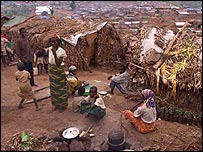 Burundians in refugee camp