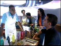 A380 bar area