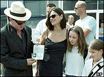 Bono with wife Ali Hewson