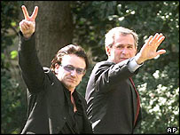Bono with President Bush