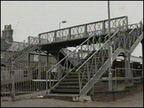 Thetford station footbridge