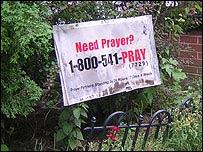 Letrero religioso en EE.UU.