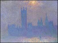 Monet's Londres, Le Parlement, Effet de Soleil dans le Brouillard