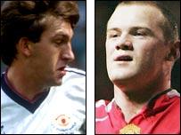 Norman Whiteside and Wayne Rooney