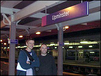 Geoff Marshall (left) and Neil Blake (right) at the last station