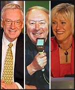 Three with all the answers: David Vine, David Coleman and Sue Barker